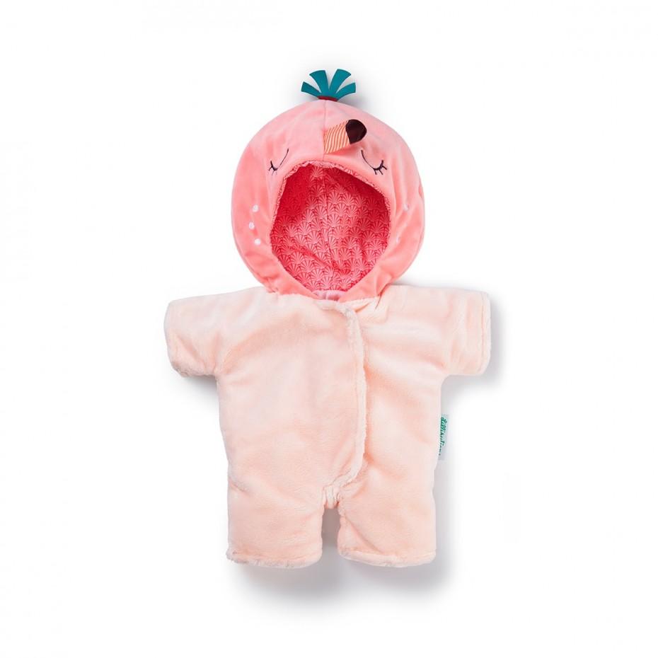 Flamingo-Onesie (Puppe 36 cm)
