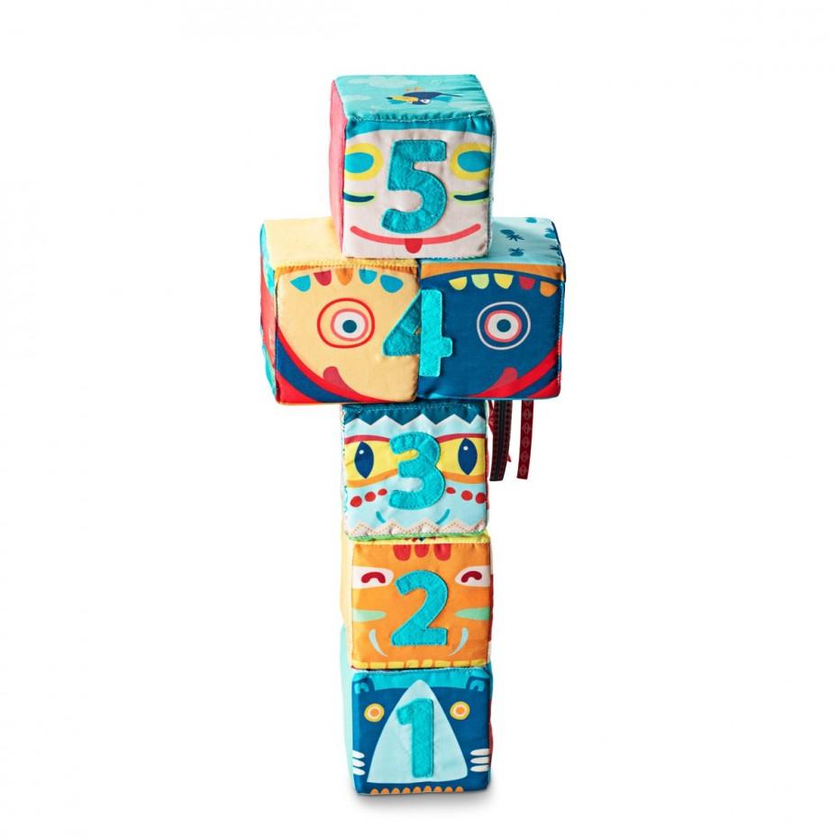 Set de 6 cubos tótem
