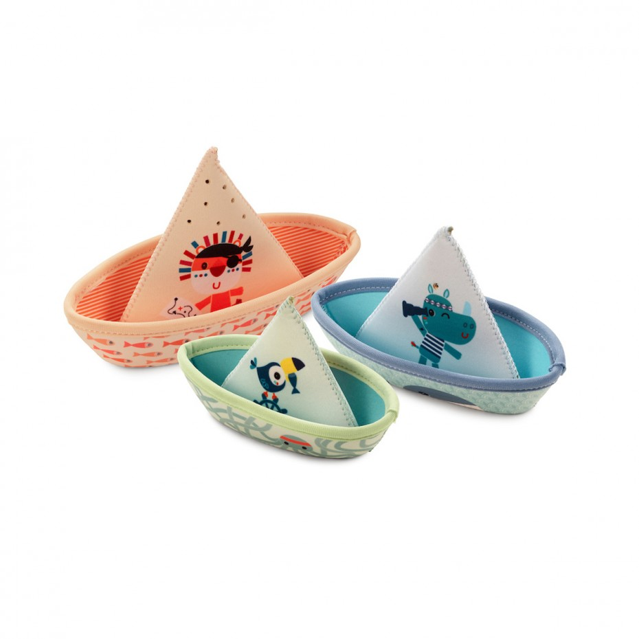 Tres barcos jungla