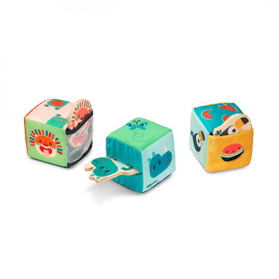 """JUNGLE Jeu de cubes """"Cache-cache"""""""