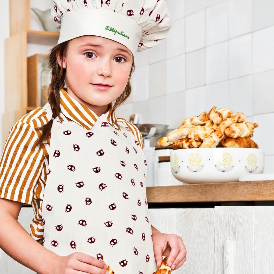 Emoti-Georges keukenschort en koksmuts