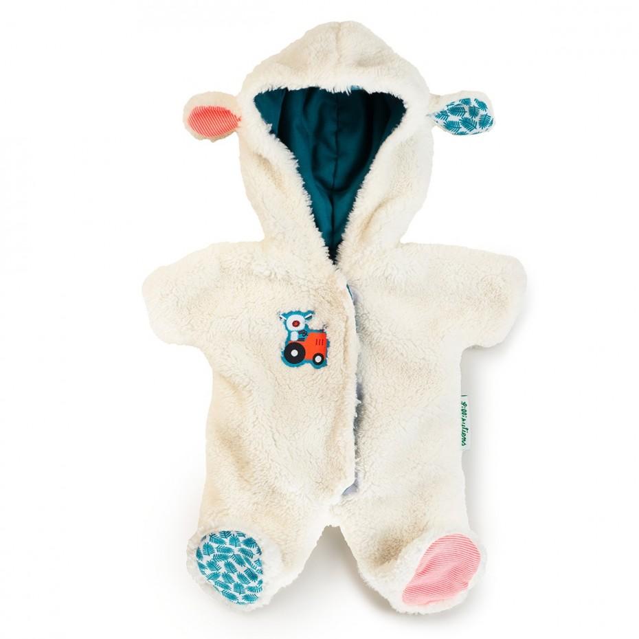 Schaf-Onesie (Puppe 36 cm)