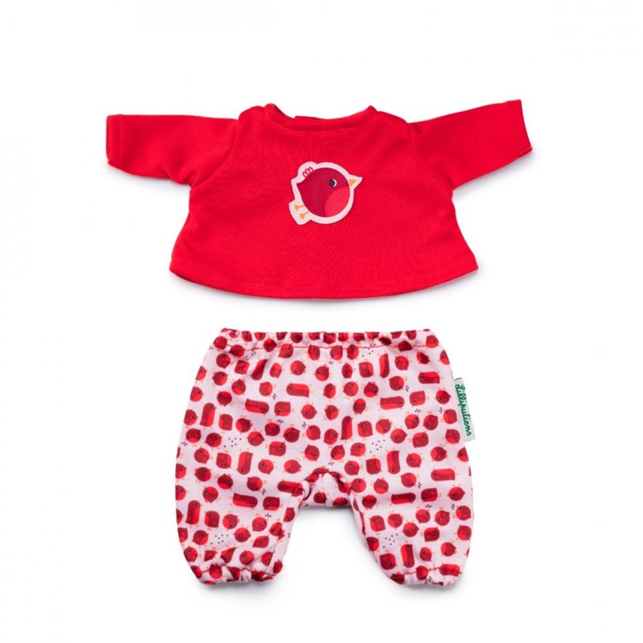 Schlafanzug, Rotkehlchen (Puppe 36 cm)
