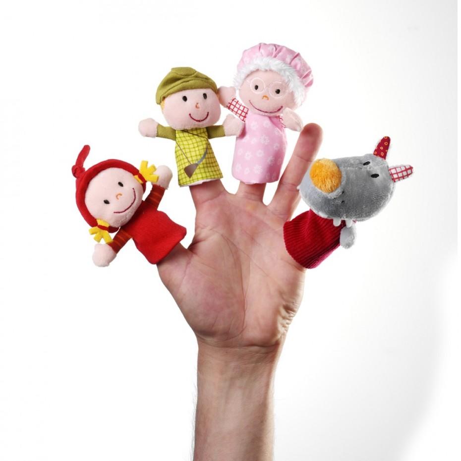 Marionette da dita Cappuccetto Rosso