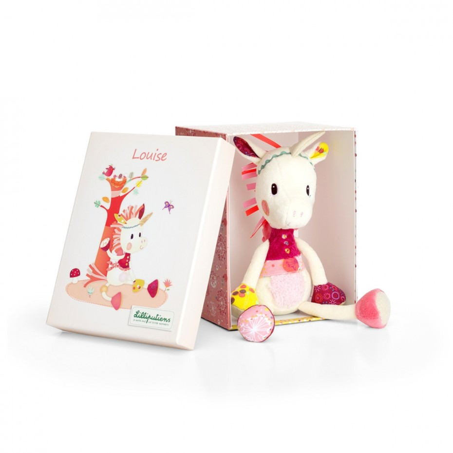 Louise knuffeleenhoorn box